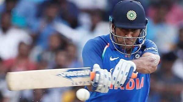 Mahendra Singh Dhoni batting at Chennai on 17 September 2017. Photo by Adnan Abidi/Reuters