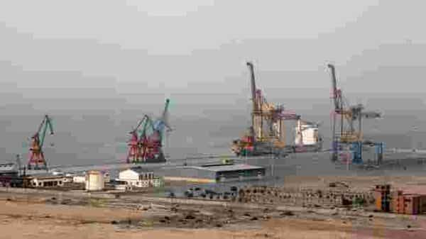 The dusty fishing town of 90,000 inhabitants in Pakistan's remote and volatile Balochistan is strategically located on the Arabian Sea. (Bloomberg)