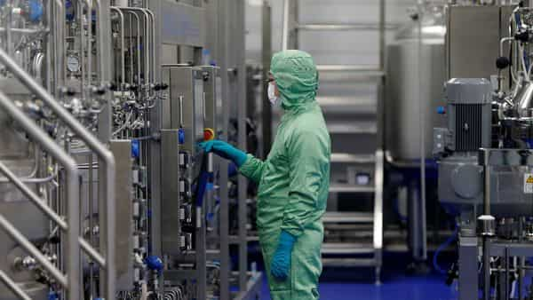 FILE PHOTO: A technician works at a manufacturing facility of Chinese vaccine maker CanSino Biologics in Tianjin, China November 20, 2018.  REUTERS/Stringer/File Photo ATTENTION EDITORS - THIS IMAGE WAS PROVIDED BY A THIRD PARTY. CHINA OUT. (REUTERS)