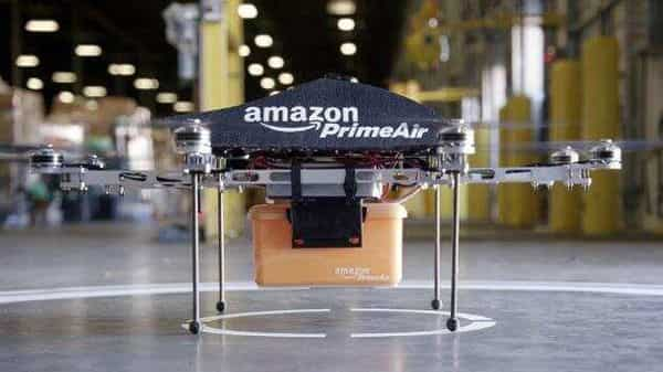 Amazon's MK27 drone. which it unveiled last year, has a hexagon-shaped frame and takes off and lands like a helicopter.