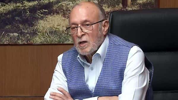 Delhi Lt Governor Anil Baijal addresses a press conference over Coronavirus lockdown, in New Delhi on Thursday. (ANI Photo)