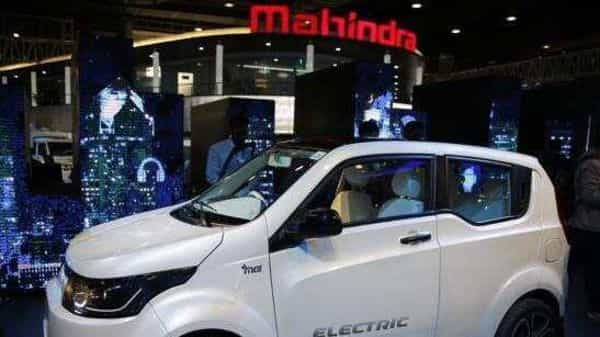 Mahindra electric SUV eKUV 100 was displayed at the Auto Expo in February. (Photo: AP)