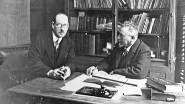 Marius Sestier (right) with Australian photographer and film-maker Henry Walter Barnett. Photo: Courtesy Marie-Dominique Petitbois