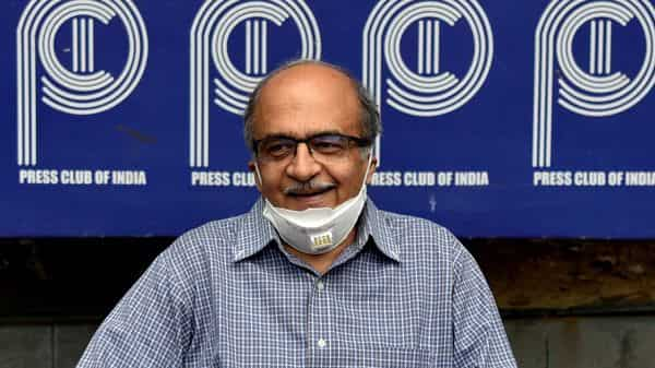 Advocate Prashant Bhushan addresses a press conference at the Press Club of India, in New Delhi (ANI)