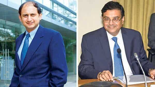 Viral Acharya (left) and Urjit Patel. (Mint)