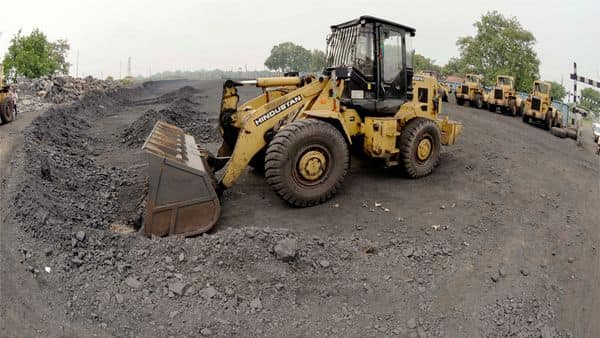 Earthmovers halt at a coal field (PTI)