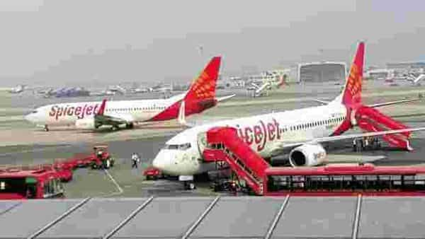 SpiceJet reported a loss of  ₹593 crore for the three months ended June.