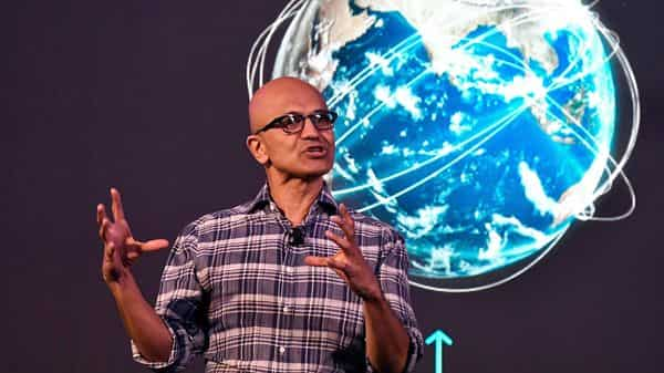 Satya Nadella spoke at Ignite, the US-based firm's annual flagship event for developers and IT professionals. (File photo) (AFP)