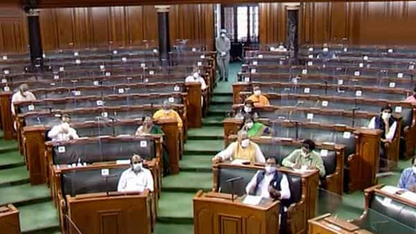 Parliamentarians in Rajya Sabha during the ongoing Monsoon Session of Parliament, in New Delhi, Wednesday (PTI)