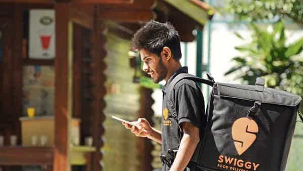 Swiggy's food delivery gross merchandise value (GMV) has reached 85% of pre-covid levels, but volumes are stuck at 65%, Sunder said. (MINT_PRINT)