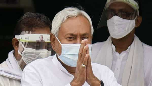 Janta Dal-United National President and Bihar Chief Minister Nitish Kumar arrives at the party office to interact with ticket seekers ahead of Bihar Assembly elections, in Patna, (PTI)