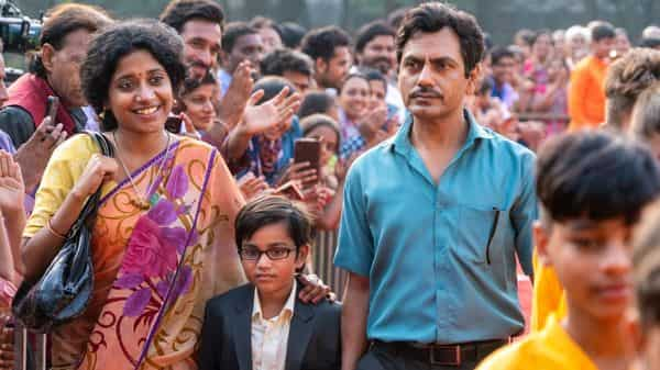 (from left) Indira Tiwari, Aakshath Das and Nawazuddin Siddiqui in 'Serious Men'