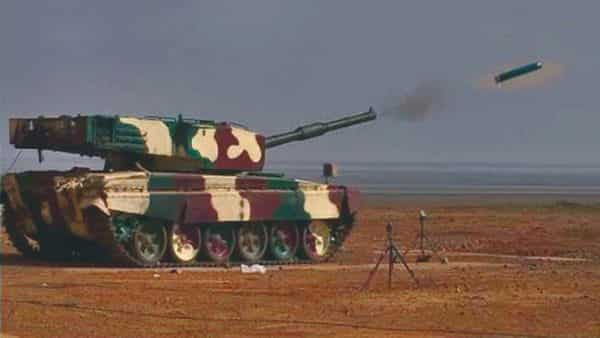 In this handout photo, DRDO successfully conducts test firing of Laser Guided Anti Tank Guided Missile from MBT Arjun at KK Ranges (ACC&S) in Ahmednagar (PTI)