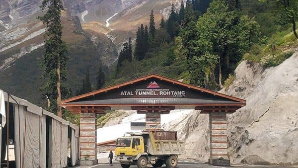 Atal Tunnel at Manali Leh Highway will be inaugurated by Prime Minister Narendra Modi today.  (ANI)