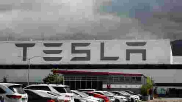 FILE - This May 12, 2020 file photo photo shows the Tesla plant in Fremont, Calif. Tesla's third-quarter sales rose 44% from a year ago as global demand for its electric vehicles proved stronger  (AP)