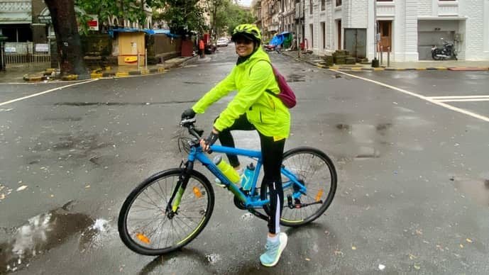 Cycling is a great way to stay fit, while exploring your city. (Photo courtesy Debahuti Bora)