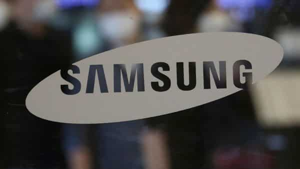 The logo of the Samsung Electronics Co. (AP)