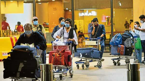 Some NRIs who came in FY20 were stuck due to curbs on international flights. HT