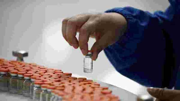 A worker performs a quality check in the packaging facility of Chinese vaccine maker Sinovac Biotech,  (REUTERS)