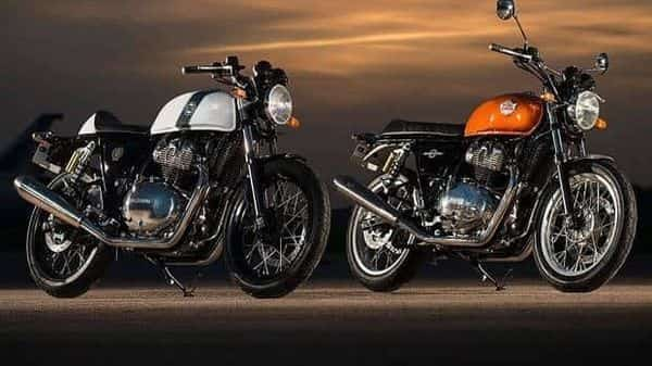 The Royal Enfield Interceptor (right) and Continental GT 650