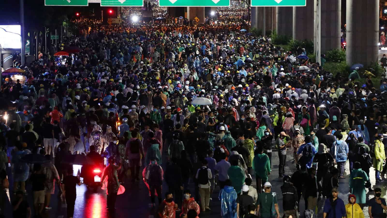 Tens of Thousands Protest Across Thailand in Defiance of Government Ban on Gatherings