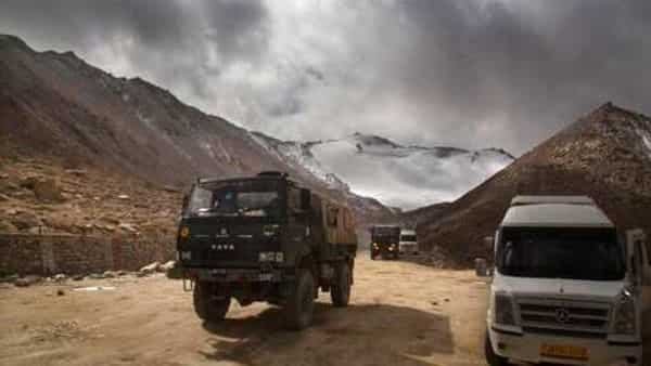 In this file photo, an Indian Army truck crosses Chang la pass near Pangong Lake in Ladakh region (Photo: AP)