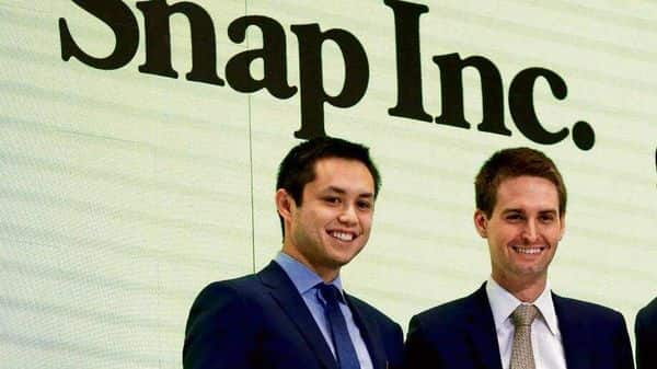 Snap Inc. founders Evan Spiegel and Bobby Murphy