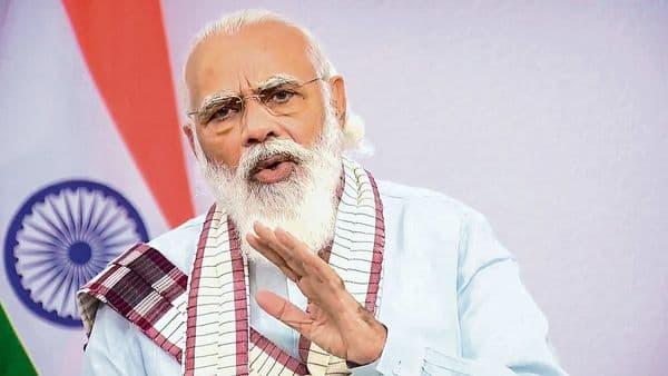 A video grab of Prime Minister Narendra Modi. (PTI)