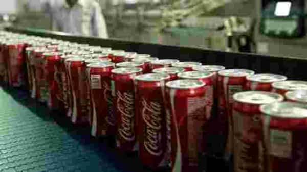 Unit case volume at the company's bottling investments declined 10% .Photo: AFP