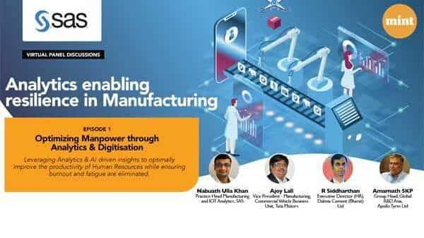 Analytics enabling resilience in Manufacturing