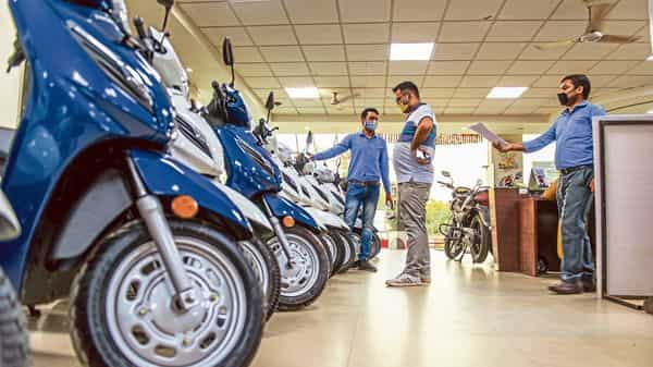 Two-wheeler sales in the rural markets are down 10-15% from a year ago.mint