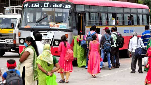 Bengaluru lockdown: Public transportation services which include KSRTC, BMTC and private buses will remain suspended during the period. (PTI)