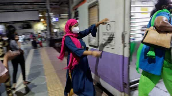 When it comes to footfall at transit stations, Mumbai fares the worst among the main metros, down 57% over its pre-pandemic levels (Photo: AP)