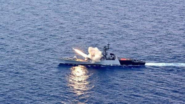 AShM launched by Indian Navy Missile Corvette INS Kora. (Twitter)