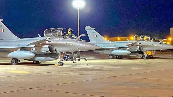 A second batch of three Rafale fighter jets arrived at Jamnagar airbase in Gujarat after flying non-stop from France. (PTI)