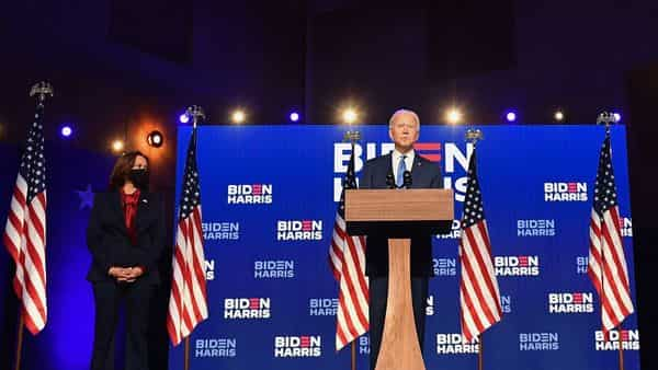Biden urged his fellow countrymen to remain calm and patient as the vote counting process is still going on in some key battleground states (AFP)