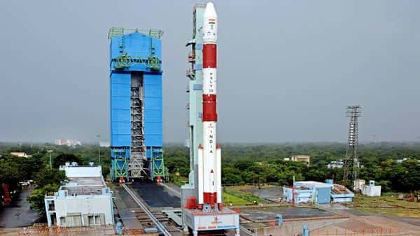 In this photo provided by ISRO, India's Polar Satellite Launch Vehicle (PSLV) C-49 , ahead of its 51st misson, which will lift off EOS-01 as primary satellite and nine other international commercial satellites onboard from Satish Dhawan Space Centre (SDSC), in Sriharikota. (PTI)