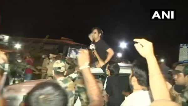 Arnab Goswami after being released from Taloja Jail (ANI)