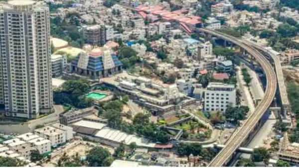 An aerial view of Bengaluru. (PTI)