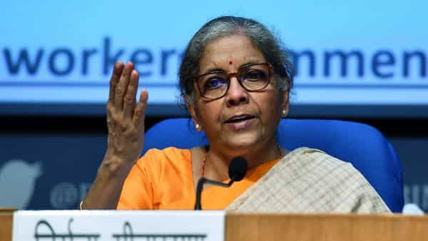 Union Finance Minister Nirmala Sitharaman addresses during a press conference in New Delhi. (ANI)