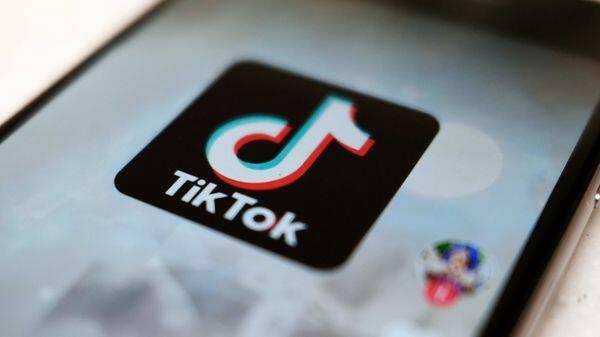 Smartphone app TikTok (AP)
