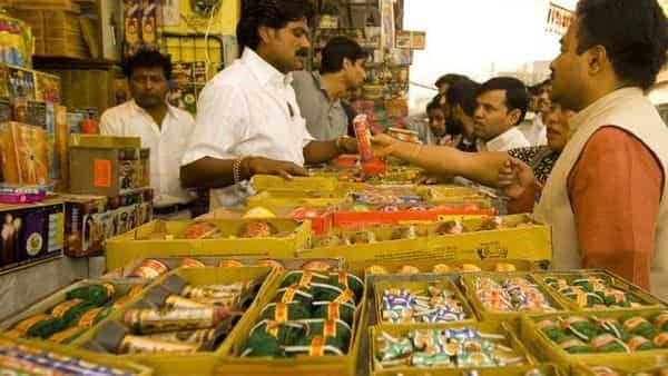 The police has so far seized 3407.852 kg crackers. Photo: Ramesh Pathania/Mint (Ramesh Pathania/Mint)