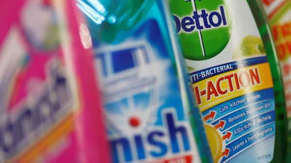Reckitt Benckiser's health and hygiene brands such as Dettol, Lysol, Harpic products have benefitted from a surge in covid cases worldwide. (File Photo: Reuters)