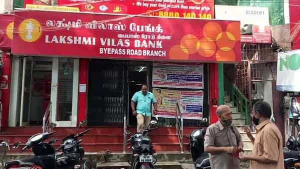 A Lakshmi Vilas Bank branch in Chennai  (ANI)