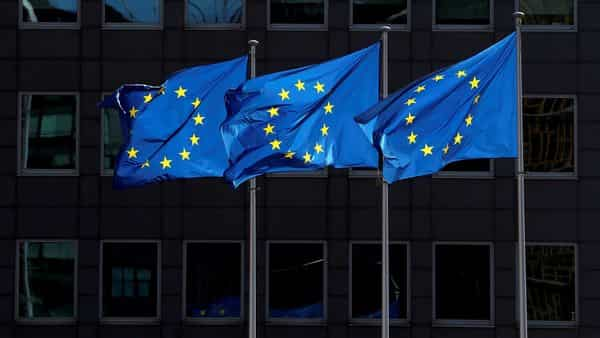 FILE PHOTO: European Union flags flutter outside the European Commission headquarters in Brussels, Belgium August 21, 2020. REUTERS/Yves Herman/File Photo (REUTERS)