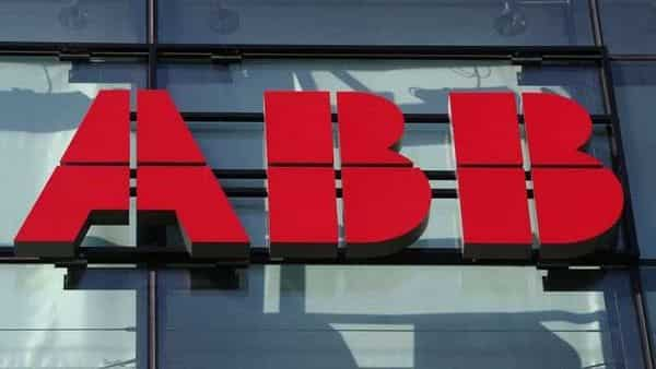 The logo of Hitachi ABB is seen at an office building in Zurich, Switzerland. (REUTERS)