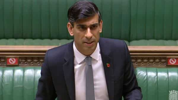 Chancellor of the Exchequer Rishi Sunak will unveil tens of billions of pounds of infrastructure spending next week as part of a five-year, 600-billion pound ($800 billion) plan he announced in his budget in March. (AFP)