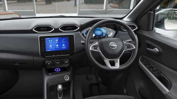 1. While the exteriors have garnered a lot of attention, the interiors of the car seem to be on par with its competitors in terms of features. Nissan will be offering an 8-inch infotainment panel with wireless Android Auto and Apple Car Play as well as a relatively large 7-inch MID.