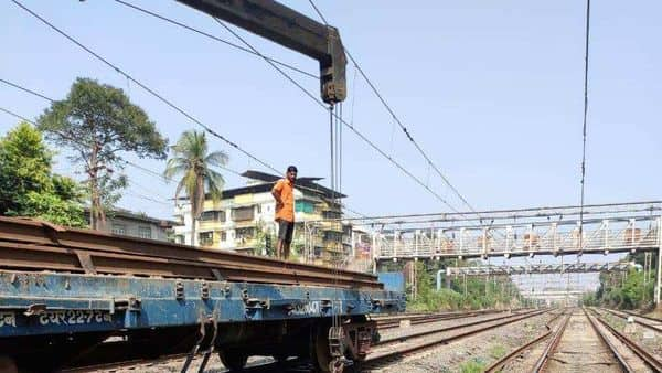 Maintenence work carried out by Central Railway.