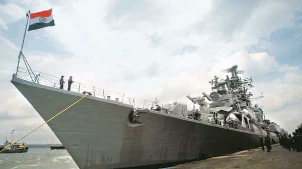 A file photo of an Indian Navy warship.
